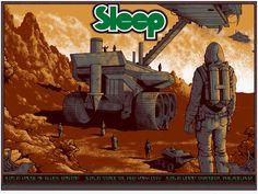 Sleep East Coast Tour 2014 Screenprint Poster by Arik Roper.