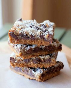 Gluten free, dairy free magic bars?  May have to try these... sub coconut sugar too... hmmmm