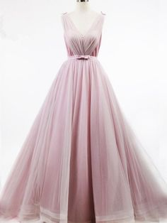 V Neck Prom Dress, Sexy Tulle Prom Dresses, Long Evening Dress, Formal Gowns