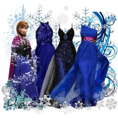 """Anna Frozen"" by jess-d90 on Polyvore. LOVE the one-shoulder with the purple belt."