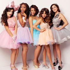 Fifth Harmony; Ally Brooke Hernandez, Camila Cabello, Dinah Jane Hansen, Lauren Jauregui, and Normani Kordei Hamilton. Fifth Harmony, Flower Girl Dresses, Prom Dresses, Wedding Dresses, Pastel Dresses, My Girl, Cool Girl, Divas, Movin On
