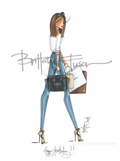 Brittany Fuson: Custom Illustration| Be Inspirational❥|Mz. Manerz: Being well dressed is a beautiful form of confidence, happiness & politeness