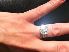 Look at that diamond sparkle! This one has been sold, but if you'd like a ring we sure can help you out!