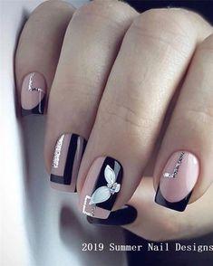 50 Beautiful nail art designs - Image 41 of 50 Cute Summer Nail Designs, Cute Summer Nails, Winter Nail Designs, Colorful Nail Designs, Simple Nail Designs, Cute Nails, Pretty Nails, Summer Design, Nail Summer