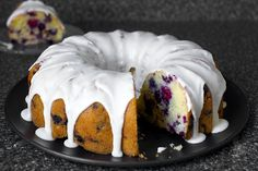 Smitten Kitchen - Triple Berry Summer Buttermilk Bundt  (easy recipe; short list of ingredients; fruits)