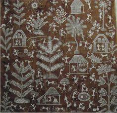 Les arbres, la jungle, la vie sauvage, sujets privilégiés de la peinture warli... mais aussi la fête, les rituels.