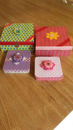 Sigarendoosje Shadow Box, Coasters, Diy, Ideas, Bricolage, Coaster, Do It Yourself, Thoughts, Homemade
