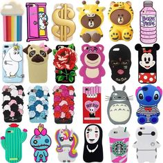 Cartoon Animals Gel Soft Silicone Rubber Case Cover Skin For iPhone 7 Samsung Iphone 7 Plus, Iphone 8, Apple Iphone, Cute Cases, Cute Phone Cases, Lg Cases, Cute Cartoon Animals, Cute Animals, Cartoon Disney