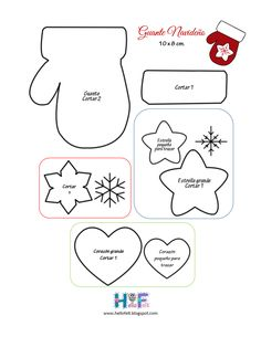 santa pattern picture on next Felt Christmas Decorations, Felt Christmas Ornaments, Christmas Fun, Christmas Stocking, Felt Ornaments Patterns, Felt Crafts Patterns, Christmas Ornament Template, Christmas Templates, Christmas Patterns