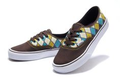 Vans Classics Brown Checkerboard Authentic Shoes For Men