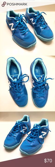 Bright blue [New Balance] sneakers women's size 9 Bright blue Nike sneakers. These have only been worn once and are in excellent condition. Women's size 9 New Balance Shoes Sneakers