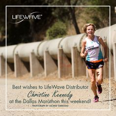 We want to wish Christine Kennedy the best of luck as she attempts to set a world record at the (TAG) Dallas Marathon this weekend! Christine is a proud LifeWave Distributor and user of our products. We're thrilled that she wears our Energy Enhancer patches! Let's send our best wishes to Christine in the comments below!