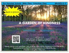 In this product you will find writing activities and ideas that I have used in my 19 years of teaching experience that encourages kindness and compassion in students grades K-3. This is a lifelong tool great for back to school or to use anytime during the school year.This product has been made specifically to use in parochial schools, religion class, and character education.