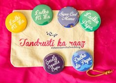 Indian Wedding Gifts - Quote Badges for your Wedding | WedMeGood #indiangifts #weddinggifts #favors #badges #indianweddingideas #quirky