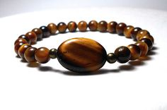 Tiger Eye Bracelet Nature Bracelet Gemstone by BlueStoneRiver, $24.95