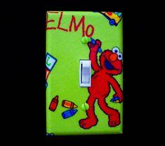 Single Light Switch Cover Sesame Street Elmo by cathyscraftycovers, $7.00