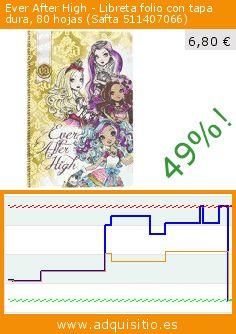 Ever After High - Libreta folio con tapa dura, 80 hojas (Safta 511407066) (Juguete). Baja 49%! Precio actual 6,80 €, el precio anterior fue de 13,33 €. https://www.adquisitio.es/ever-after-high/libreta-folio-tapa-dura