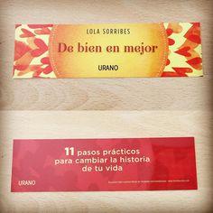 Punto de libro de 'De bien en mejor' (Urano) de Lola Sorribes #superacion #inspiracional