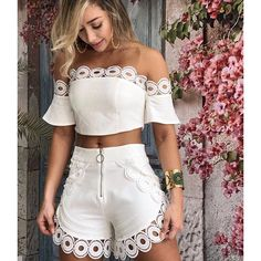 Shorts Vanilla Off White Hot Pants, Mode Outfits, Casual Outfits, Pinterest Fashion, Cute Summer Outfits, Mode Style, Casual Chic, African Fashion, Ideias Fashion