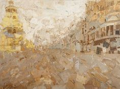 Fernando Alday, Paris-Barcelona, 2012, Collage and Mixed media on canvas, 51.3 x 38.3 inches