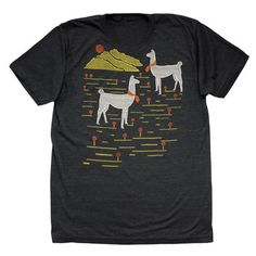 Love me some Llamas. Unisex Llamas Tri Tee now featured on Fab.