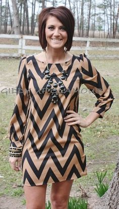 Giddy Up Glamour  Chevolution Black and Tan Dress  $39.95