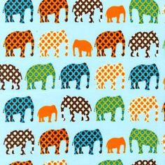 Graphic elephant fabric