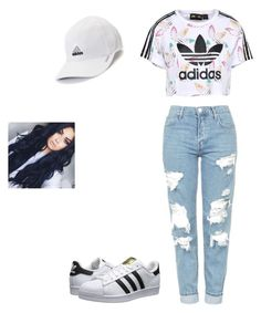 """Untitled #152"" by royal08 ❤ liked on Polyvore featuring Topshop, adidas Originals and adidas"