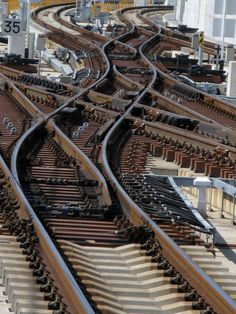 Complex Railway switches in elevated ROW