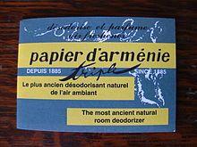 Papier d'Arménie - Wikipedia, the free encyclopedia