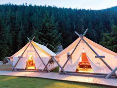 Glamping! Là je veux bien faire du camping...
