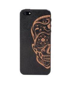 LazerwoodSugarskull Black iPhone 5/5S Cover