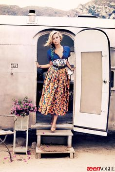 Demi Lovato wearing Marc Jacobs Resort '13 for Teen Vogue
