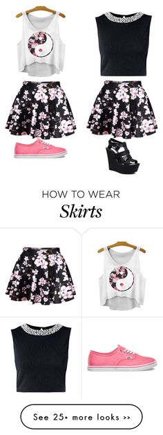 """Same skirt,different styles"" by musicislife166 on Polyvore"