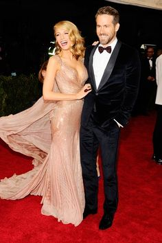 Met Ball 2014 - Blake Lively and Ryan Reynolds look amazing in Gucci.