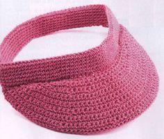 Crochet sun visor free pattern ༺✿Teresa Restegui http://www.pinterest.com/teretegui/✿༻