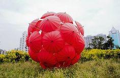 Modern Art: Umbrella Art Installations