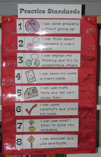 """F is for First Grade: Common Core Practice Standards Freebie -- """"I Can"""" statements"""