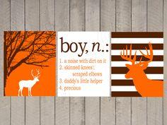 Nursery Art - Kids Wall Art- A Noise With Dirt On It - Name Print - Chevron Deer - boy definition - hunter nursery - boys room - 11x14 on Etsy, $35.00