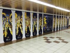 """Tokyo Metro Marunouchi Line Shinjuku Station Metro Promenade, advertising of BD & DVD """"Saint Seiya golden soul"""" appearance! Golden Saint 12 people, along with Zurari is the best part! It will be carried out until today 7/26/5 (day), when visiting your local Please check all means!"""