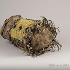 Sioux Beaded and Fringed Cylinder Bag - Arthur W. Erickson - 5