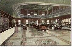French Lick Springs Hotel lobby, French Lick, Indiana