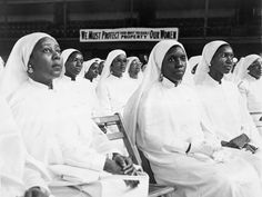 Women of the Nation of Islam in assembly, 1960. <3