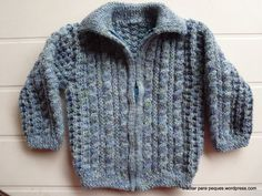 jersey bebé baby pull knitting for kids archivos - Tricotar para peques - Knitting for kids Knitting For Kids, Baby Knitting, Baby Wearing, Leo, Knit Crochet, Men Sweater, Sweaters, How To Wear, Gilets