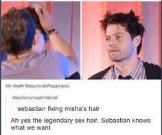 Misha's hair <3