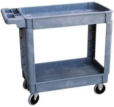School Specialty Small Two-Shelf Utility Cart, Multiple Sizes