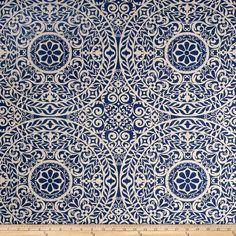 Richloom R Gallery Tachenda Indigo Fabric By The Yard