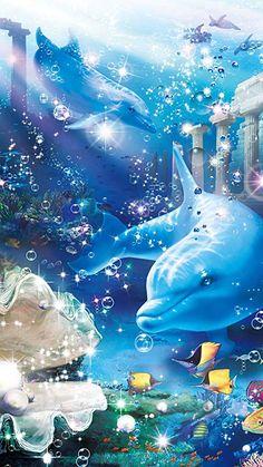 🐬Dauphins 📱 Fond d'écran cellulaire no 41 🐬 Underwater Art, Underwater Creatures, Ocean Creatures, Dolphin Painting, Dolphin Art, Dolphin Images, Cartoon Sea Animals, Beautiful Sea Creatures, Sea Life Art