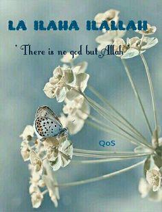La ila ha ilAllah - ' There is no god but Allah '. Most beautiful moment of my life when i said Kalma. Alhamdulillah