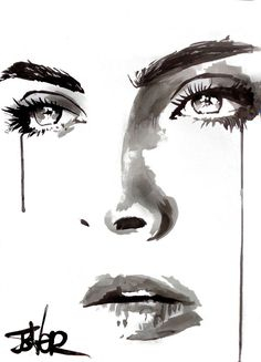 View LOUI JOVER's Artwork on Saatchi Art. Find art for sale at great prices from artists including Paintings, Photography, Sculpture, and Prints by Top Emerging Artists like LOUI JOVER. Painting People, Drawing People, Pencil Art Drawings, Art Drawings Sketches, Tears Art, Watercolor Face, Eyes Artwork, Abstract Faces, Human Art
